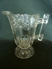 "Antique Clear Glass Cream Pitcher, 5 1/2"" Tall"