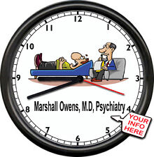Personalized Name Male Psychiatrist  Psychologist Counselor Sign Wall Clock