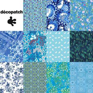 Decopatch Decoupage Paper Blue Blues Navy Royal Teal Turquoise Colours