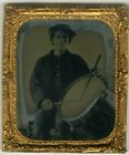 Civil War Drummer Ruby Ambrotype, Sticks on the Drum Pose