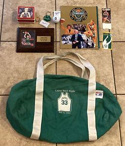 Larry Bird Night Bag + Collection Boston Celtics Memorabilia Collectibles NBA