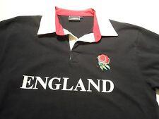 Cotton Kings England Polo Shirt Size L Large Rugby Jockey Short Sleeve Black
