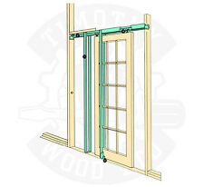 "Coburn H30 Hideaway Sliding Pocket Door Frame Kit Internal Doors 30"" 762mm Wide"