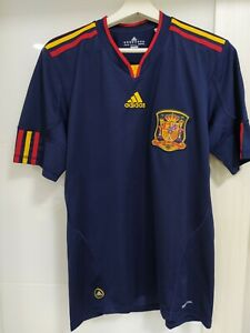 Spain 2010 Size M world cup away jersey football vintage throwback soccer