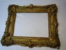 Cadre doré stuqué Louis XV 19ème – 2 FIGURES 25 x 19cm (10)