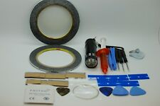 mobile phone repair bundle,2mm and 3mm tapes,loca glue,uv torch,opening tools