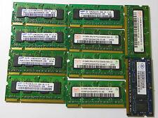 Lot of 10 512MB DDR2 PC2-5300 Laptop Memory Samsung HYNIX Nanya