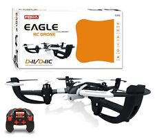 Eagle D-11 Radio Controlled Drone 2.4GHZ 6-Axis Quadcopter in Black/White