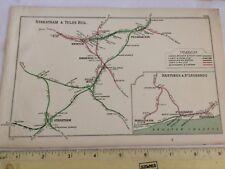 TOOTING NUNHEAD BALHAM BRIXTON PECKHAM RYE BEXHILL HASTINGS SR RAILWAY MAP 1908