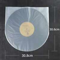 50X Clear Plastic 12'' LP LD Inner Sleeves Cover Vinyl 30.8X30.6cm New Tool Best