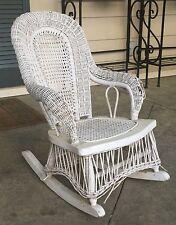 Marvelous Antique 1910 Childu0027s Wicker Rocking Rocker Chair