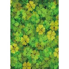 Welcome St. Patrick Lucky Clover Garden Flag House Double-sided Yard Banner