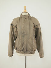 SALINI LEATHER Finland Vintage Mocha Taupe Stand-collar Zipper Jacket XL - XXL