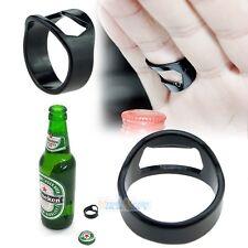 New Stainless Steel Finger Ring Bottle Opener Beer Bar Tool Black