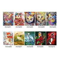 5D DIY Full Drill Diamond Painting Animals Cross Stitch Embroidery Kit Decor
