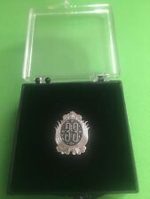 Disneyland Old Disney Club 33 Logo Members Only Lapel Pin Silver Tone