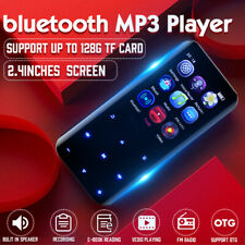 Portable bluetooth MP3 Player MP4 Music Lossless FM Radio Voice Touch Screen 🔥