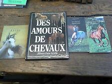 4 livres  Des amours de chevaux le pur sang arabe le cheval arabe appaloosa