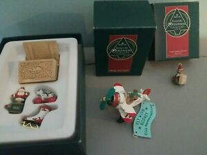 Lot Of 1992 Hallmark Collectors Club Miniatures and Rodney Airplane Ornament