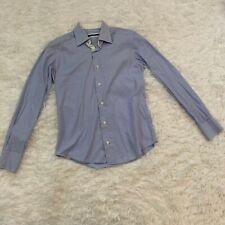 Pal Zileri Men's Dress Shirt Blue White Striped Collared Size 14.5 37