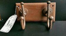 Stile Vintage in ghisa ganci montato in legno, shabby chic