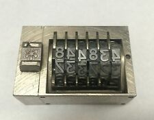 Letterpress Numbering Machine 6 Digits Backwards Press Print Stamp Germany Made