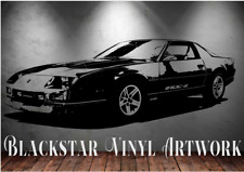 "1986 CHEVROLET CAMARO IROC~Z LARGE DECAL WALL ART 23"" X 57"""