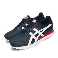 Asics Tiger Runner Navy White Mens Retro Running Shoes Lifestyle 1191A301-400