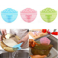 Plastic Rice Washing Grille Beans Wash Cleaning Tool Kitchen Gadget Tool