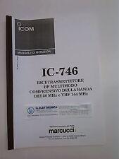 MANUALE IN ITALIANO istruzioni d'uso per ICOM IC-746