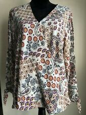 Jodifl NWT Floral Embroidered Boho Hippie 3/4 Sleeve Top Size Large