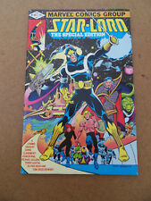 Star-Lord :The Special Edition 1 . One Shot . Marvel 1982 . VF - minus