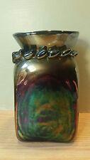 "RARE Kimrie Newcomb Vintage Art Glass Studio Vase 7"" Signed Iridescent 1971"