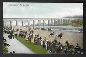 "1908 New York City ""The Speedway"" Horse Racing Track Postcard"