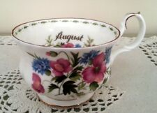 Royal Albert Flower of the month August Fiori mese Agosto Tazza Breakfast