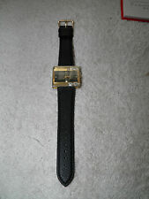 Morita Ladies Watch With a Square Dark Dial & Diamantes in the Bezel
