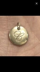 Beautiful Tiffany & Co. Notes Sterling Silver 925 Letter C Initial Charm Small