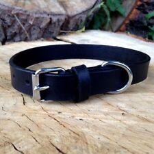 Collares de color principal negro de piel para perros