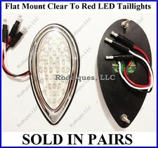 Flat Mount Clear to Red Taillights Roll Pan Bumper Chevy Pickup Truck F39C