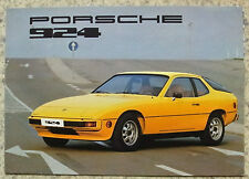 PORSCHE 924 SPORTS CAR USA Sales Brochure 1976 #33-76-76020