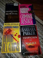 Lot of 4 Barbara Parker paperbacks, Suspicion of Malice, Blood Relations, Crimin