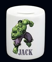 Personalised Name Hulk Money Box Piggy Bank Boy Birthday Christmas Gift