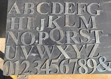 """3"""" tall Metal letters & numbers Time Roman font cut from recylced 14g steel"""