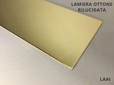 Lastra lamiera Ottone lucida 1 mm 1000x500