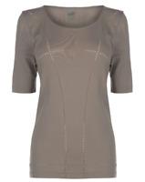 PUMA Evoknit Seamless T-Shirt Ladies Rock Ridge Brown Ladies Size UK 12 *REF35*