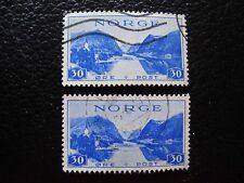 NORVEGE - timbre yvert et tellier n° 189 x2 obl (A30) stamp norway