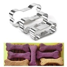 3pcs Dog Bone Stainless Steel Biscuit Cookie Cutter Cake Decor Baking Mold Tool