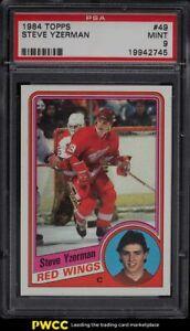 1984 Topps Hockey Steve Yzerman ROOKIE RC #49 PSA 9 MINT