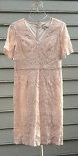 Lovely by ADRIANNA PAPELL Pink Blush Lace Dress Sz 8