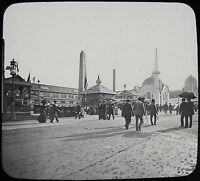 Glass Magic Lantern Slide WORLDS COLUMBIAN EXPOSITION NO39 1893 PHOTO CHICAGO